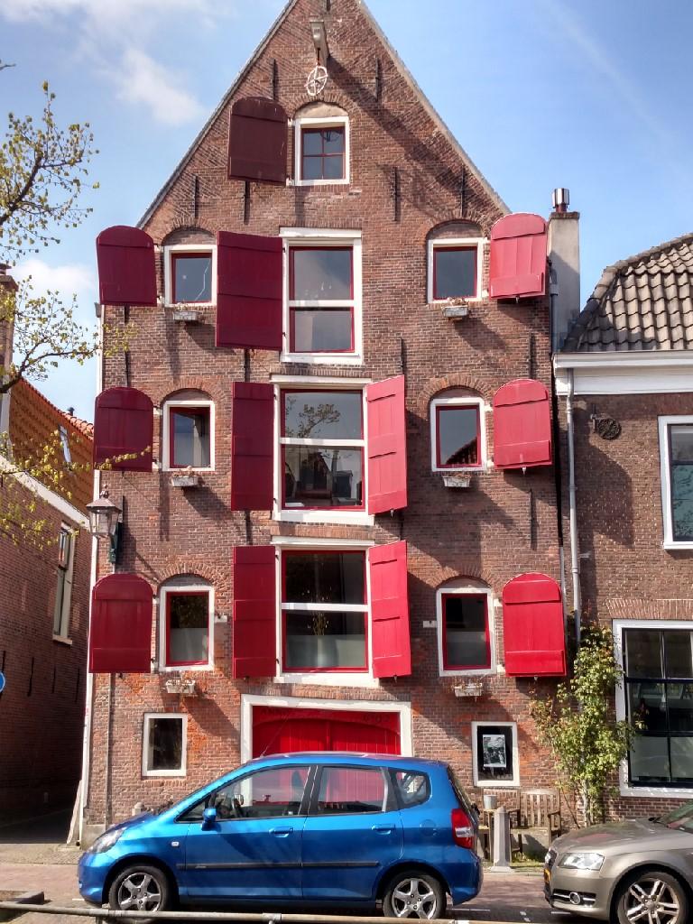 2017.04.20 Haarlem leaning bldg 1692